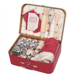 Moulin Roty play / toy baking set / patisserie set in suitcase