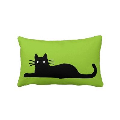 Black Cats Pillow (different on the other side)