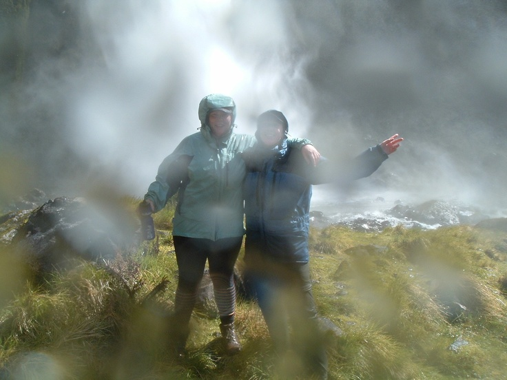 Straight after going behind the 5th largest waterfall in the world - along the Milford Track Nov 2011