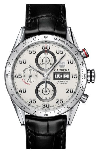 TAG Heuer 'Carrera' Automatic Tachymeter #watch #man #fashion