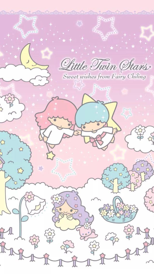 Little Twin Stars Wallpaper                                                                                                                                                                                 More