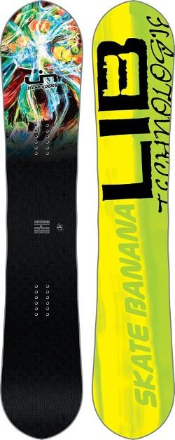 Lib Tech Men's Skate Banana BTX Snowboard Yellow 162 Cm Wide