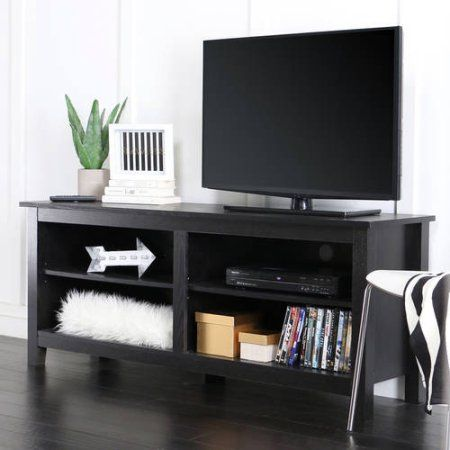 "Wood TV Stand for TVs up to 60"", Multiple Finishes - Walmart.com"