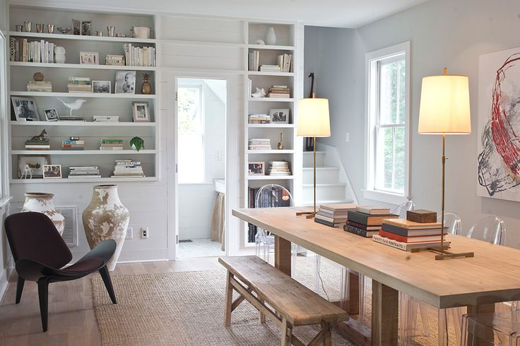 A lived in dining room. Using the room for multipurpose space. Pitt Street, Mount Pleasant | Heather A Wilson, Architect