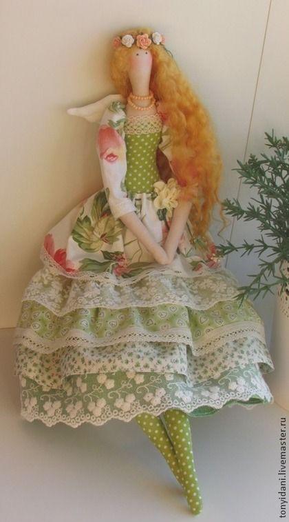 Tilda muñecas hechas a mano. Masters Feria - estado de ánimo hecho a mano estilo de la muñeca Tilda verano. Hecho a mano.♡
