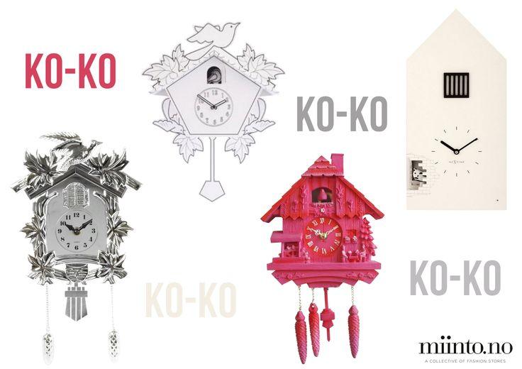 Cool modern cuckoo clocks