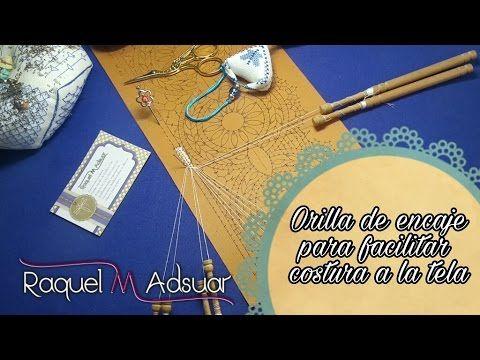 Orilla para facilitar costura - Encaje - Bolillotutorial Raquel M. Adsuar