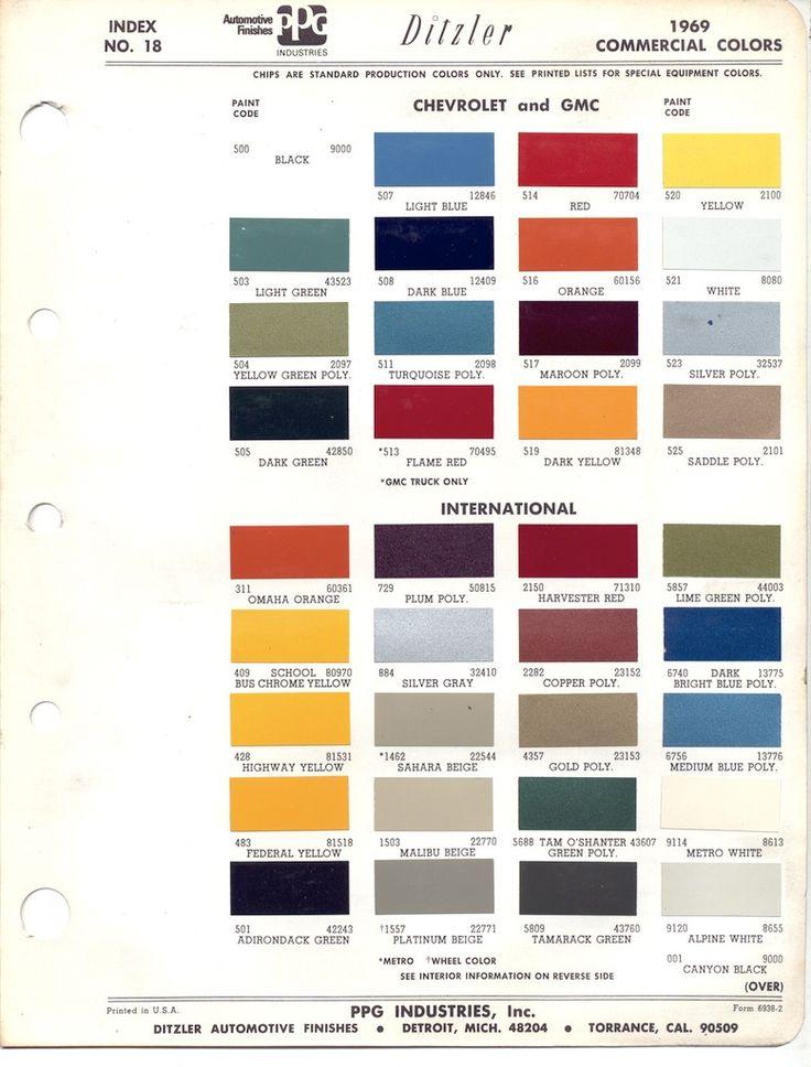 U Gm Paint Code