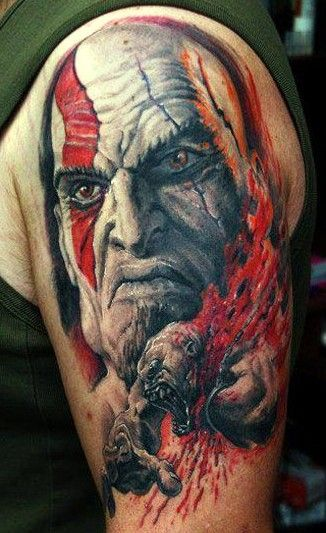 Tattoos and body art on pinterest for Kratos tattoo design