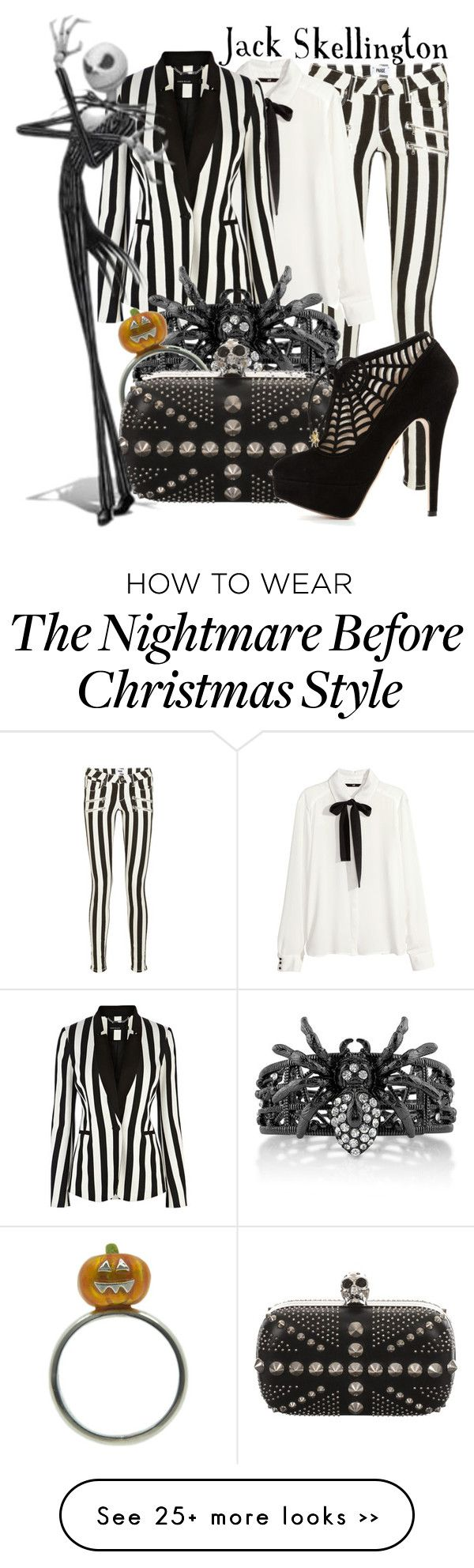"""""""Jack Skellington from Tim Burton's """"The Nightmare Before Christmas"""""""" by ginger-coloured on Polyvore"""