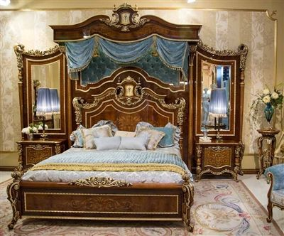 an exceptional master bedroom set with optional boiserie from our exclusive furniture masterpiece collection handmade - Exclusive Furniture Bedroom Sets