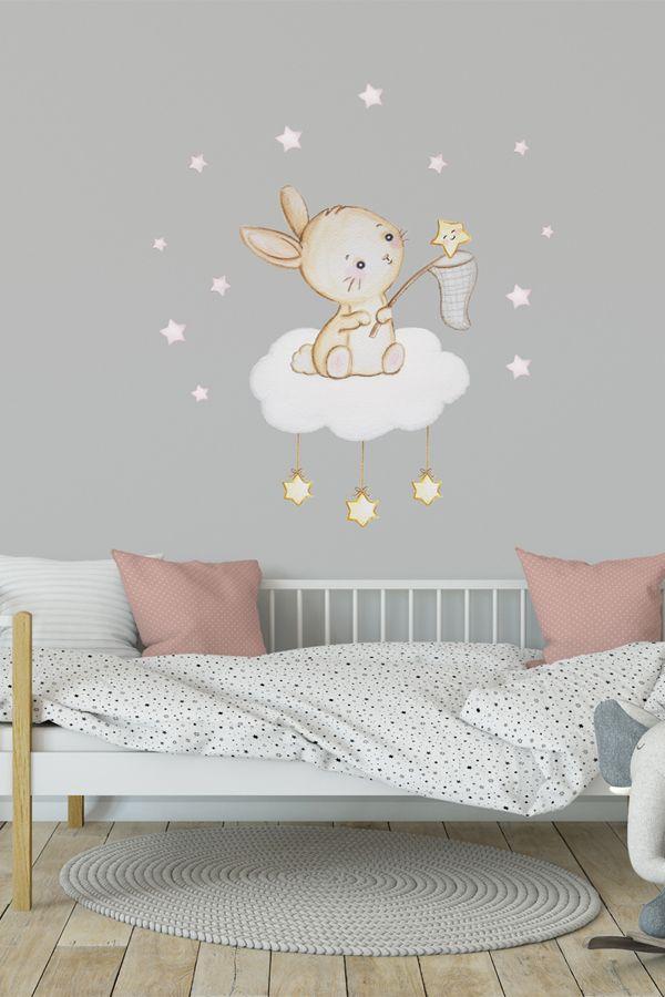 Gold stars wall stickers decals décoration art kit décalque graphique nursery cute