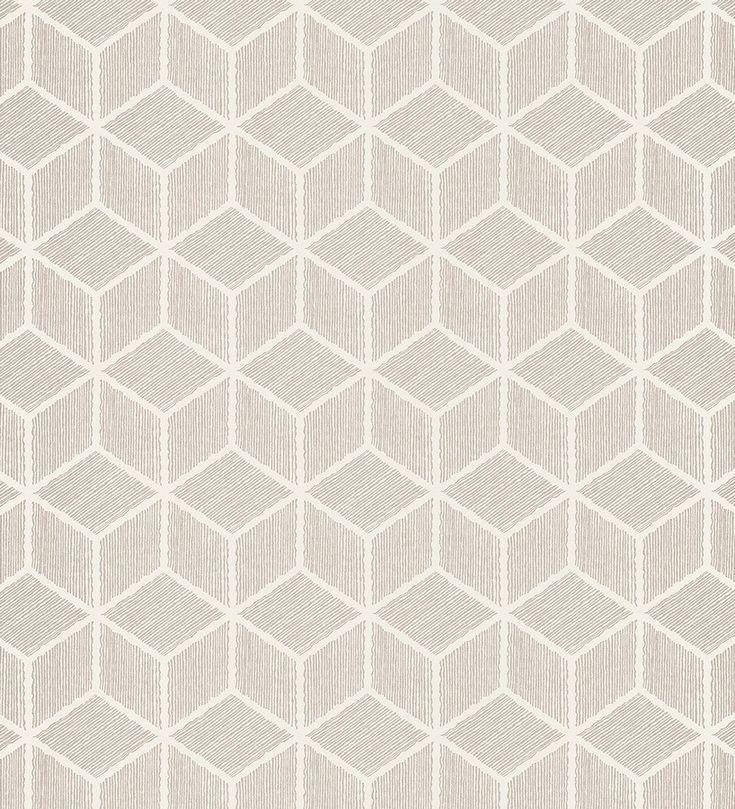 Papel pintado para pared cubos geométricos en 3D gris