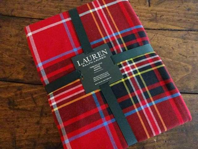 RALPH LAUREN RED Black TARTAN Baker PLAID CHRISTMAS HOLIDAY TABLECLOTH | eBay