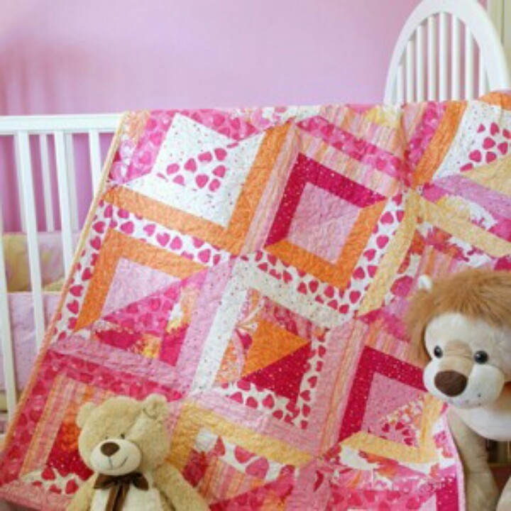 Quilt Patterns For A Girl : Baby girl quilt Baby blanket Pinterest