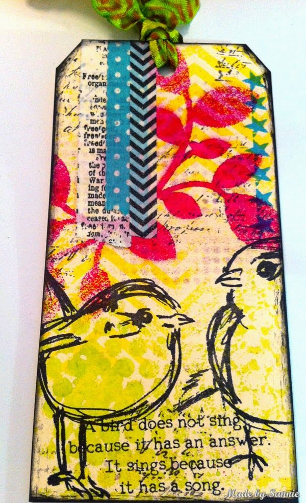 Dare to be artsy by Sandra Mouwen for the Simon Says Stamp Monday challenge (The Artsy Stamp) May 2014
