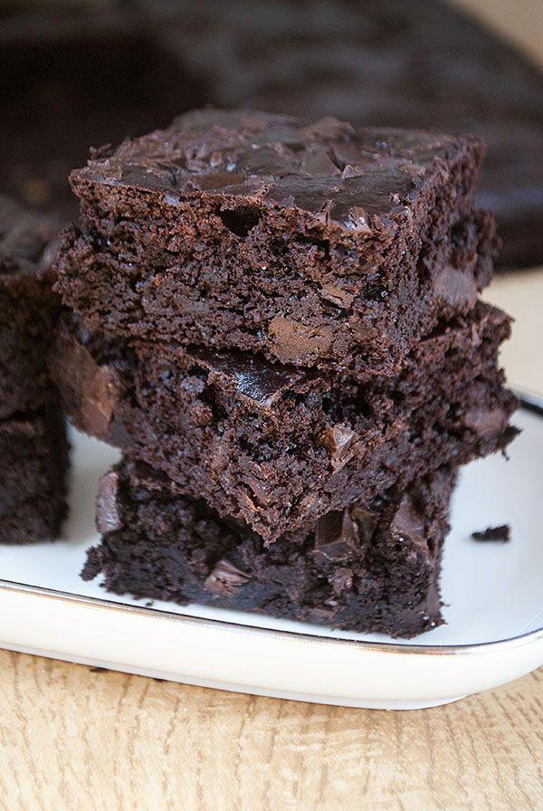 Fettarme, glutenfreie Brownies mit geheimer Zutat
