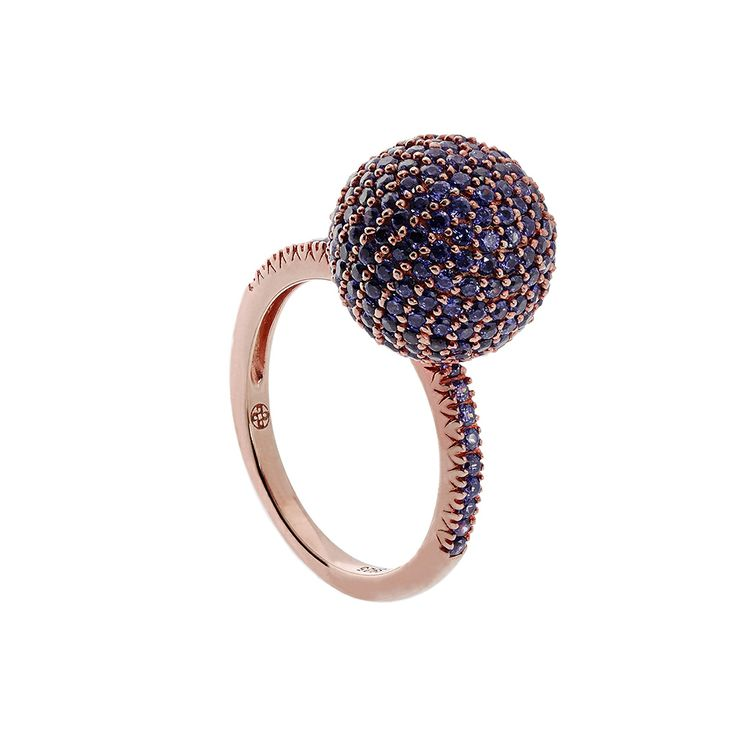 Oxette Rose Gold Silver 925 Ring with zircons - Available here www.oxette.gr/... #oxette #OXETTEring #jewellery