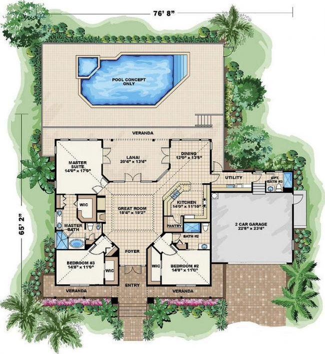 Florida home floor plans free homemade ftempo for Free single family home floor plans