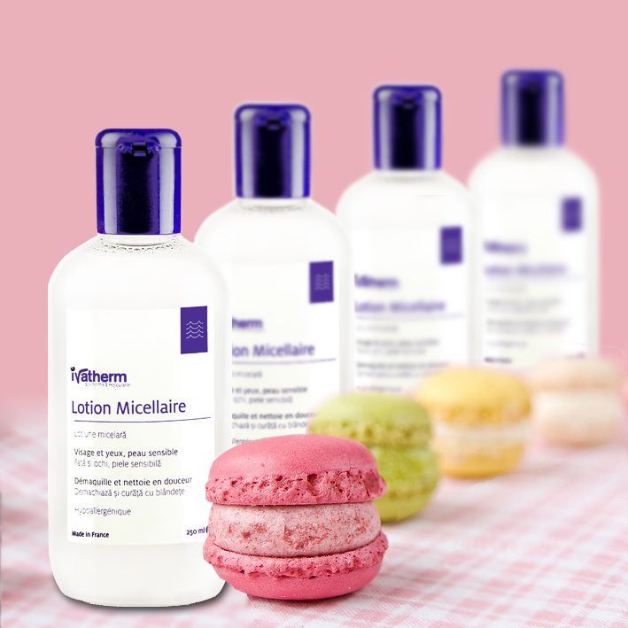 Micellar Lotion sensitive skin #herculanethermalwater #makeupremoval #macarons #ivatherm