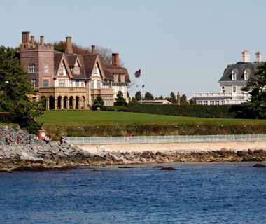 Ocean Drive, Newport, RI The 10-mile coastal route packs in historic mansions and spectacular views over Narragansett Bay. #VisitRhodeIsland