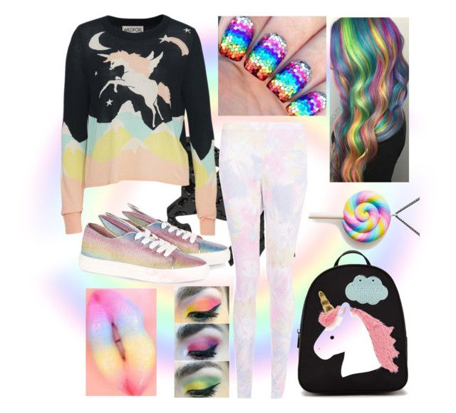 Love unicorns by slytheriner on Polyvore featuring Wildfox, Boohoo, Minna Parikka and Forever 21