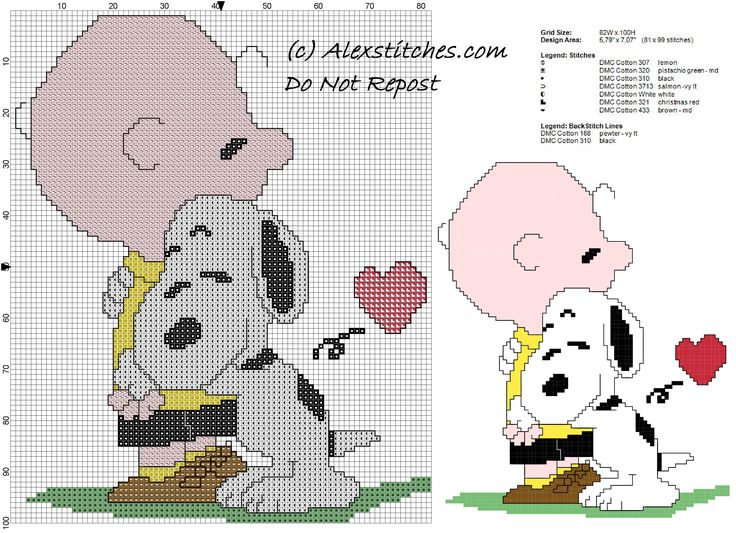 free cross stitch pattern snoopy hug charlie brown