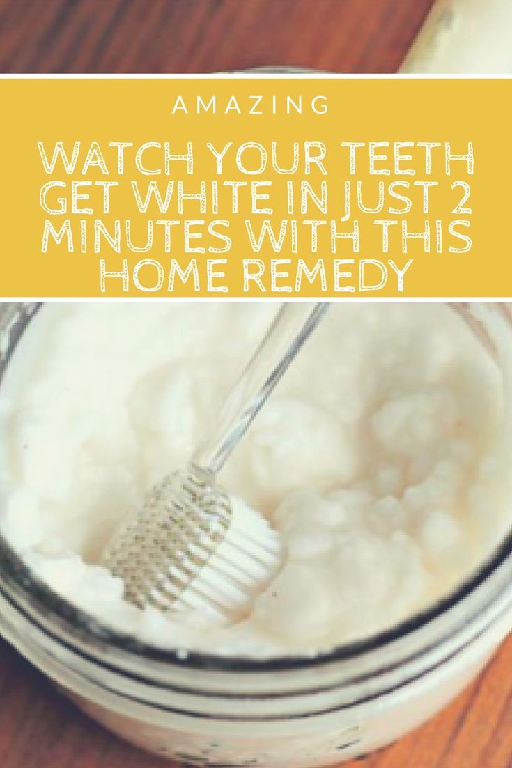 Watch Your Teeth Get White In Just 2 Minutes With This Home Remedy I really think that youll be shocked when we tell you that (according to the latest statistics) Americans spend more than $1.4 billion dollars in over-the-counter teeth whitening products every year. What do you think?