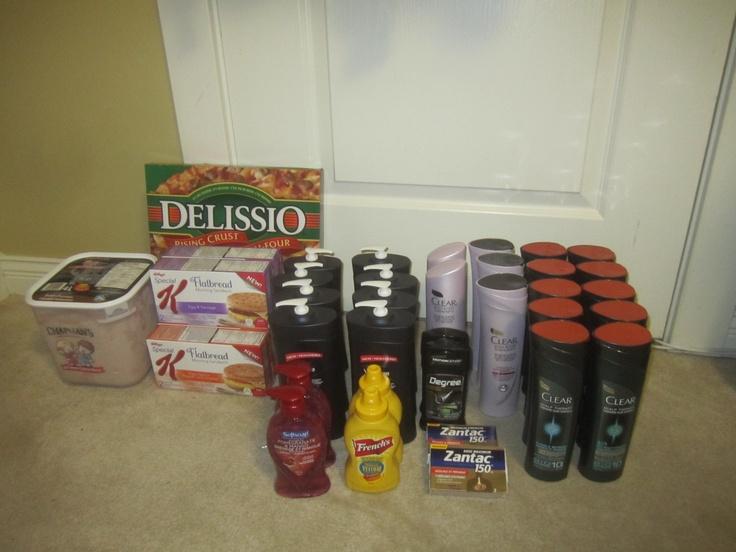 My Walmart Shopping Trip ~ February 4, 2013. Total Regular Price $186.26, Total Sale Price $175.43, Total Paid $46.95 (75% Savings)