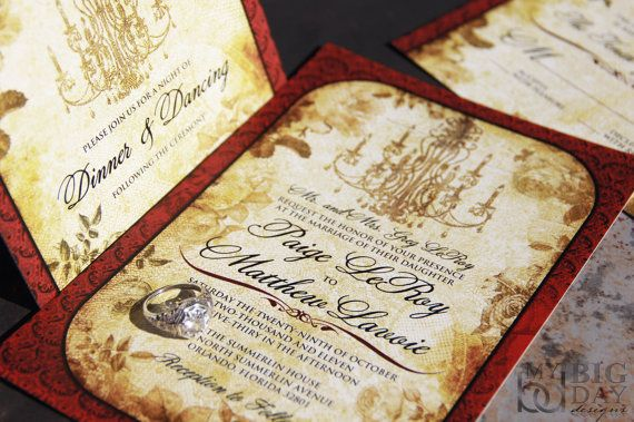 Vintage Invitation Sets Lovely Laced Antiquity by mybigdaydesigns, $2.75