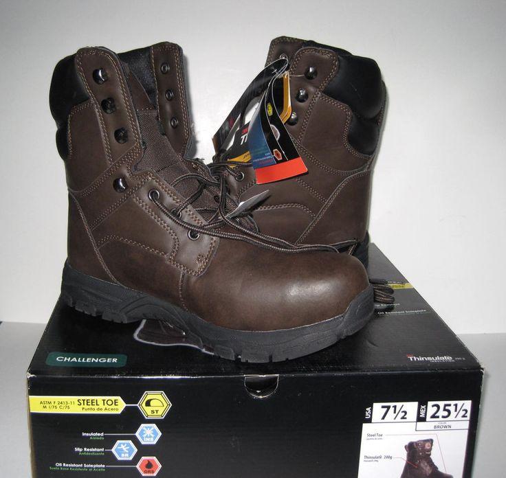 BRAHMA Challenger Mens Steel Toe Insulated Work Boots Brown Sz 7.5 NEW NIB  #Brahma #WorkSafety