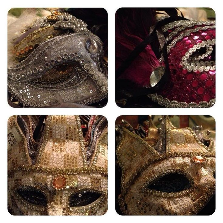 Venetian masks for guests - Antifaces venecianos para los invitados By MY Group Eventos