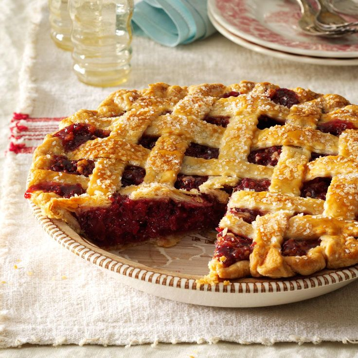 Cranberry Walnut Pie Recipe -Here's a wonderful dessert for Christmas or Thanksgiving. With ruby-red color and a golden lattice crust, this pie looks as good as it tastes. —Diane Everett, Dunkirk, New York