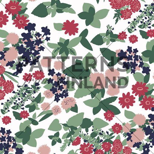 Ammi Lahtinen: Flower Carnival #patternsfromagency #patternsfromfinland #pattern #patterndesign #surfacedesign #ammilahtinen