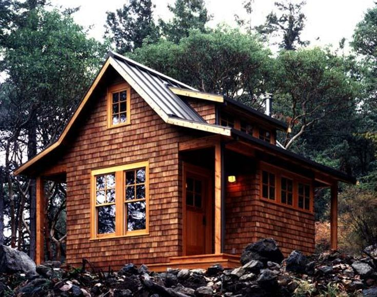 one of my favorites this small cabin in the woods on. Black Bedroom Furniture Sets. Home Design Ideas