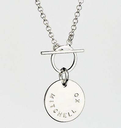 Sweet Pendant (room for 16 characters) from Citrus Silver with the Box Circle chain http://www.citrussilver.com
