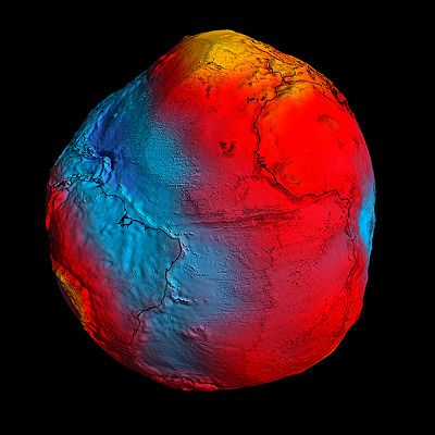 geoid visualizing gravity field of earthModels, Death Valley, Red, Blue, Esa Goce, Earth, New York Time, Continents And Ocean, Gravity