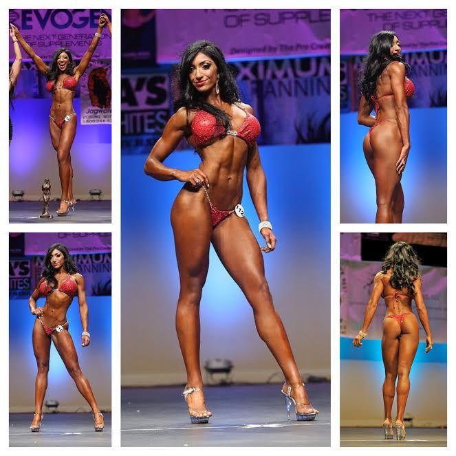 Bikini contest on her knees