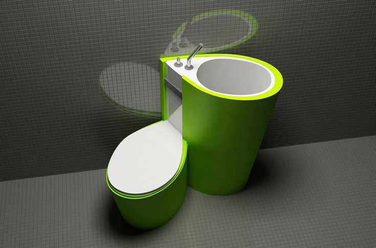 Za Bor Architects proposes an optimal combination of the toilet and sink - www.homeworlddesign. com (3)