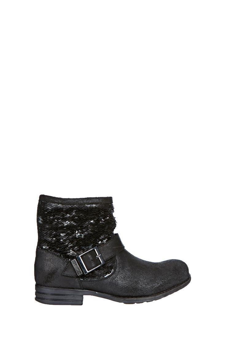 Boots en cuir et sequins Edgar Noir Les Tropéziennes par M Belarbi sur MonShowroom.com