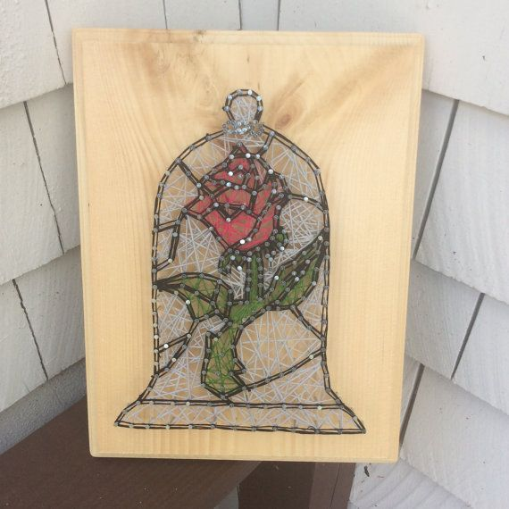 Beauty and the Beast String Art by PorcupineProducts on Etsy