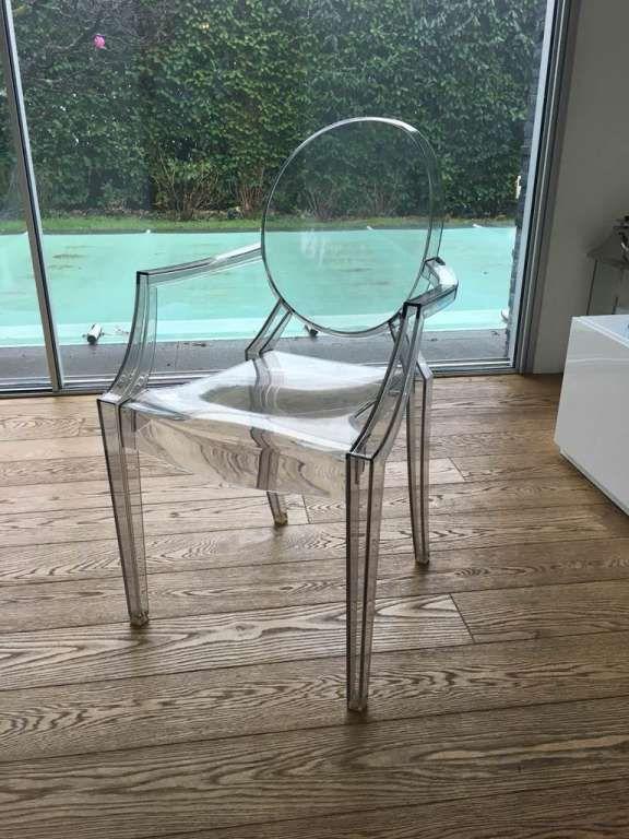 Chaises pour la salle à manger (Louis Ghost de Kartell, lot de 4 - salle a manger louis