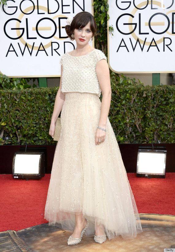 Zooey Deschanel at the Golden Globe Awards