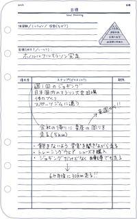 [フランクリン・プランナー]目標設定用紙のアイデア