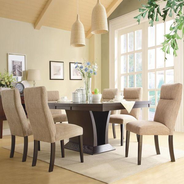 TRIBECCA HOME Charles Espresso 7-piece Contemporary Dining Set - Overstock Shopping - Big Discounts on Tribecca Home Dining Sets