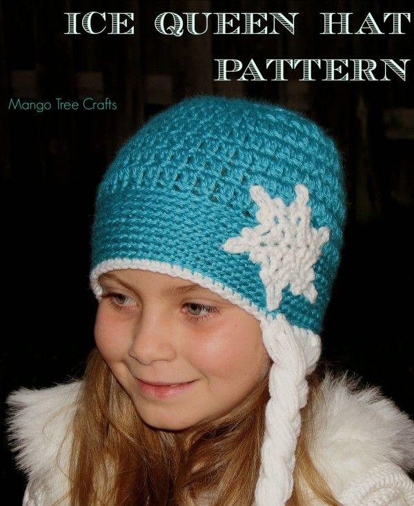 DIY Crochet Disney Frozen Free Patterns - crochet elsa hat free pattern