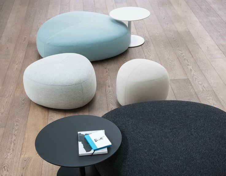 Upholstered Fabric Pouf KIPU KIPU Collection By Lapalma | Design Torbjørn  Anderssen, Espen Voll