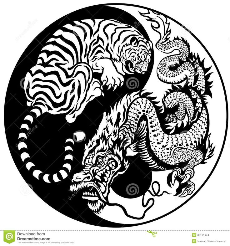 Tiger And Dragon Yin Yang Symbol - Download From Over 42 Million High Quality Stock Photos, Images, Vectors. Sign up for FREE today. Image: 35171674