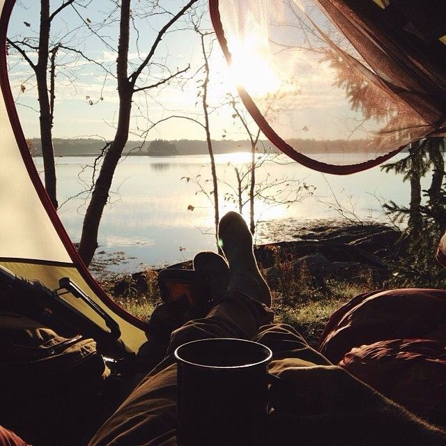 quiet morning camping