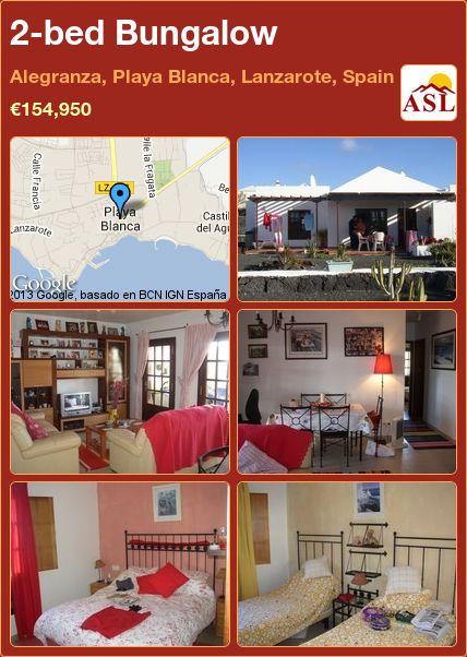2-bed Bungalow in Alegranza, Playa Blanca, Lanzarote, Spain ►€154,950 #PropertyForSaleInSpain